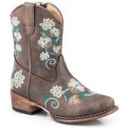 Roper Toddler Girls Juliet Brown Western Boots