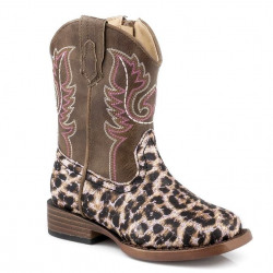 Roper Toddler Glitter Leopard Pink Western Boots