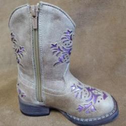 Roper Girls Lola Tan Western Boots