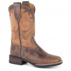 Roper Kid's Monterey Star Brown Western Boots