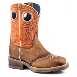 Roper Kids Brown Saddle Up Western Boots