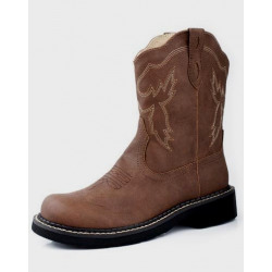 Roper Ladies Chunk Rider Brown Boot