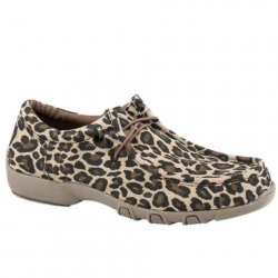 Roper Ladies Chillin Tan Leopard Casual Shoes