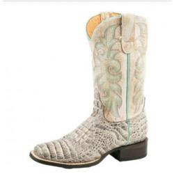 Roper Ladies Diesel Caiman White Western Boots