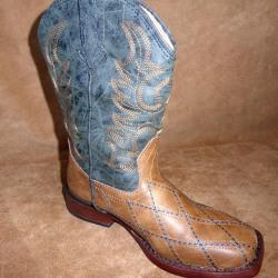 Roper Kids Tan Cross Cut Western Boots