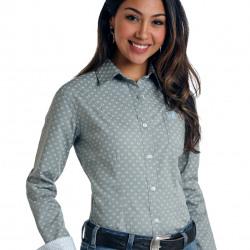 Panhandle Roughstock Ladies Fair Oak Vintage Print Button Shirt