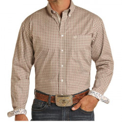 Roughstock Men's Long Sleeve Print Western Snap Shirt