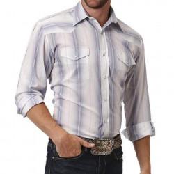 Roper Men's Blue Strip Ombre Snap Western Shirt