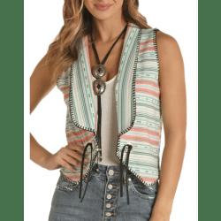 Rock & Roll Cowgirl Serape Multi Colour Vest