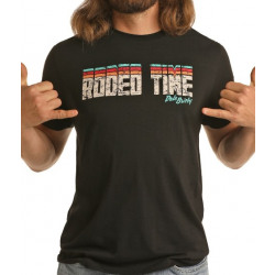 Rock & Roll Denim Men's Rodeo Time Black T Shirt