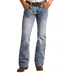 Rock & Roll Denim Men's Reflex Pistol Slim Medium Wash Vintage Jeans