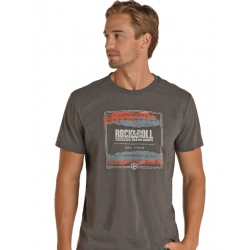 Rock & Roll Denim Dark Grey Logo T Shirt