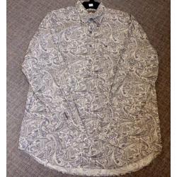 Stetson Men's Grey White Snap Paisley Western Shirt