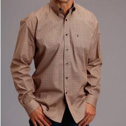 Stetson  Men's Orange Tiger's Eye Foulard Button Western Shirt