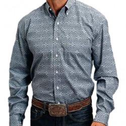 Stetson Men's Blue Medallion Paisley Button Western Shirt