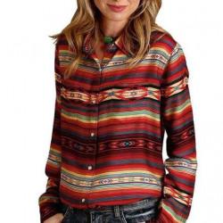 Stetson Ladies Orange Serape Stripe Snap Shirt