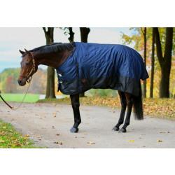 Tech Equestrian Two Tone 300 G 1680 D Winter Blanket Navy Black No Hood