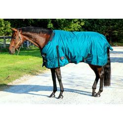 Tech Equestrian  0 G 1200 Denier Rain Sheet Teal Pony And Horse Size
