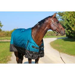 Tech Equestrian Two Tone 300 G 1680 D Winter Blanket Teal Black No Hood