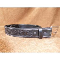 texas_saddlery_1w14_black_waffle_belt