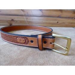 Texas Saddlery Men's Tan Spider Belt