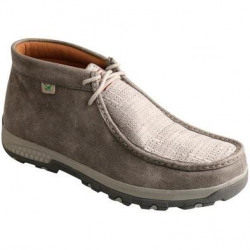 Twisted X Men's Driving Moccasin Chukka Grey