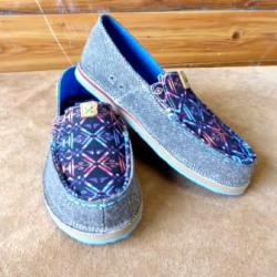 Twisted X Ladies Eco Loafer Dust Blue Aztec