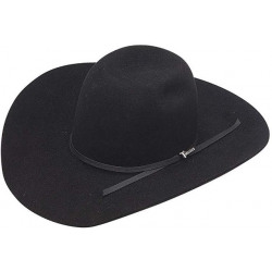 Twister Men's 6X Black Felt Cowboy Hat