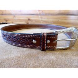 Ranger Diamond Tooled Chestnut Belt