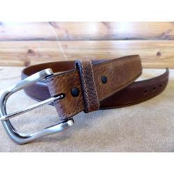 Ranger Men's Pebbled Brown Leather Dress Belt