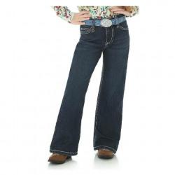 Wrangler Girls Medium Wash Boot Cut Jeans