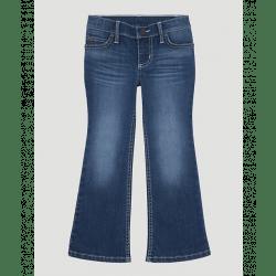 Wrangler Girl's Premium Patch Medium Bootcut Jean