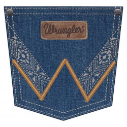 Wrangler Ladies Mae Mid Rise Retro White Stitch Jean