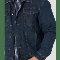 Wrangler Men's Blanket Lined Traditional Denim Jacket