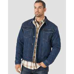 Wrangler Men's Retro Sherpa Lined Western Frontier Denim Jacket
