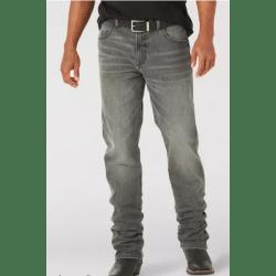 Wrangler Men's Retro Slim Fit Straight Leg Woodburn Faded Black Jeans