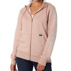 Wrangler Ladies Blush Pink Logo Zip Front Hoodie