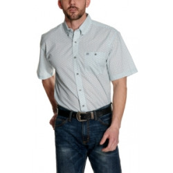 Wrangler Men's Light Blue Floral Print Short Sleeve Shirt