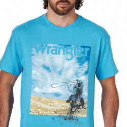 Wrangler Men's Turquoise Heather Logo T Shirt