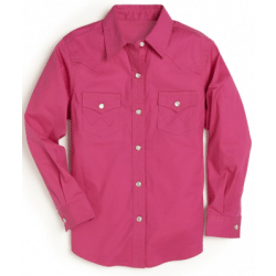 Wrangler Girls Pink Snap Western Shirt