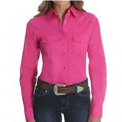 Wrangler Ladies Solid Pink Ultimate Riding Shirt