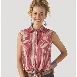 Wrangler Ladies Sleeveless Rose Aztec Striped Top