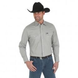 Wrangler Men's Denim Advanced Comfort Long Sleeve Grey Work Shirt