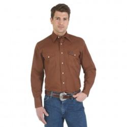 Wrangler Advanced Comfort Work Shirt Brown