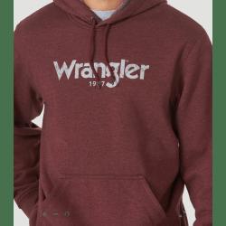 Wrangler Men's Dark Red Logo Hoodie