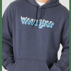 Wrangler Men's Dark Heather Logo Hoodie