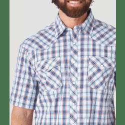 Wrangler Men's 20X Competition Advanced Comfort Short Sleeve Snap Western Shirt
