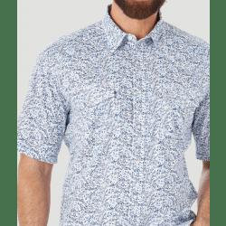 Wrangler Men's 20X Competition Advanced Comfort Short Sleeve Snap Print Shirt