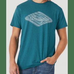 Wrangler Men's Teal Logo Tee Shirt
