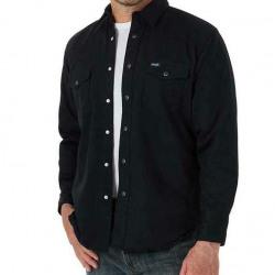 Wrangler Men's Flannel Lined Work Shirt Black
